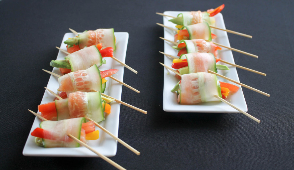 Cucumber and Smoked Salmon Lollipops
