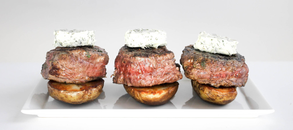 Filet Mignon with Herb Butter by Diverse Dinners