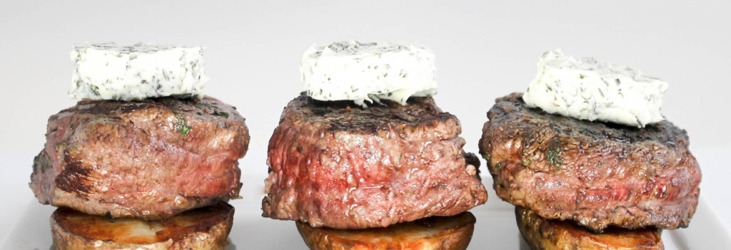 Filet Mignon with Herb Butter with Diverse Dinners