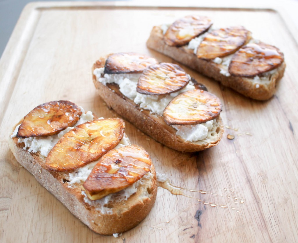 Plantain Ricotta Toast by Diverse Dinners