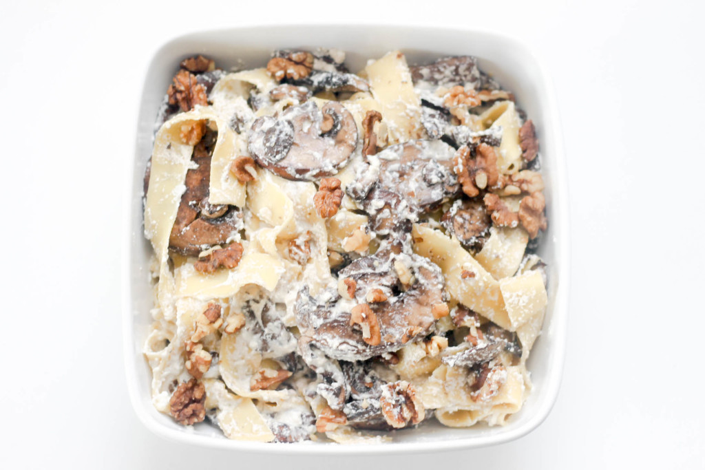 Mushroom Ricotta Pappardelle by Diverse Dinners