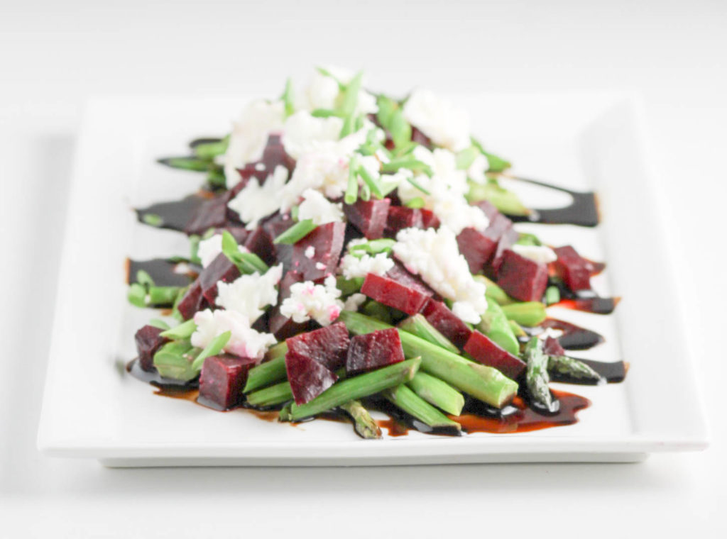 Asparagus Beets and Goat Cheese Salad by Diverse Dinners