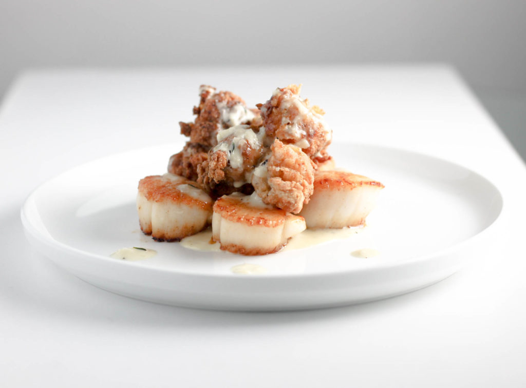 Scallops Lobster and Garlic Sauce by Diverse Dinners
