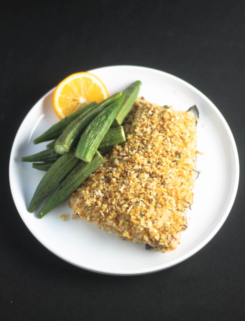 Baked Crusted Salmon by Diverse Dinners