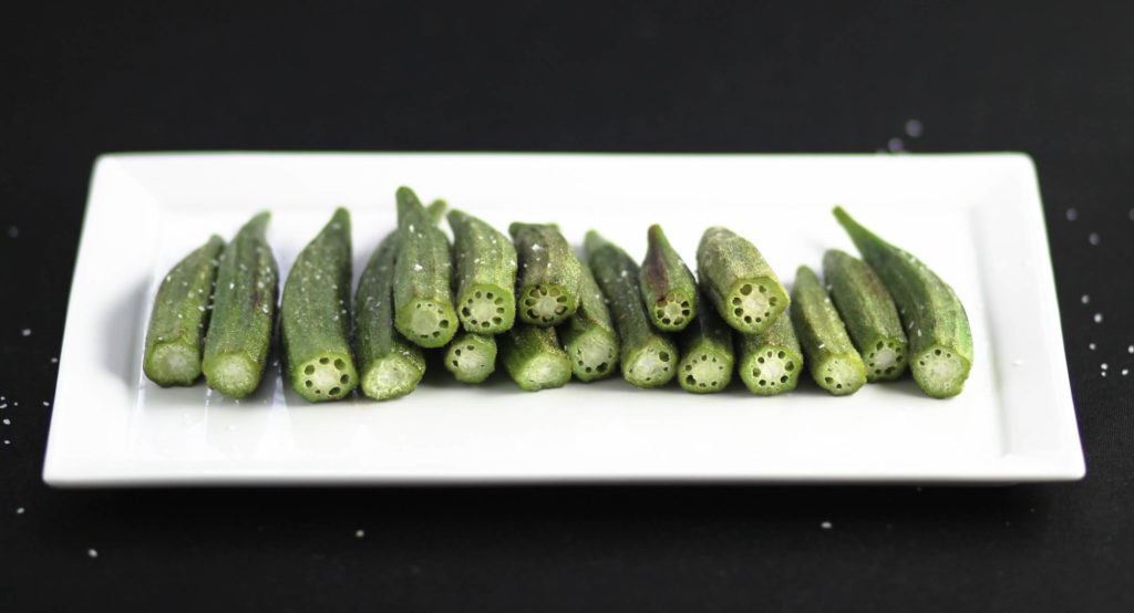 Roasted Okra by Diverse Dinners