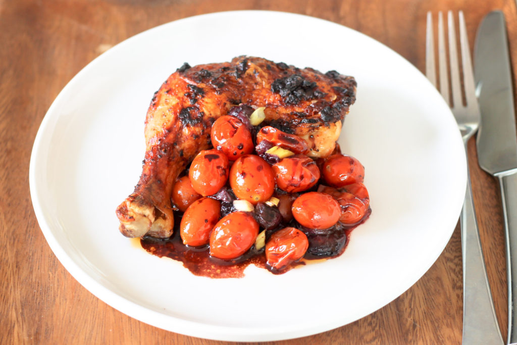 Spicy Chicken with Tomatoes and Blueberries by Diverse Dinners