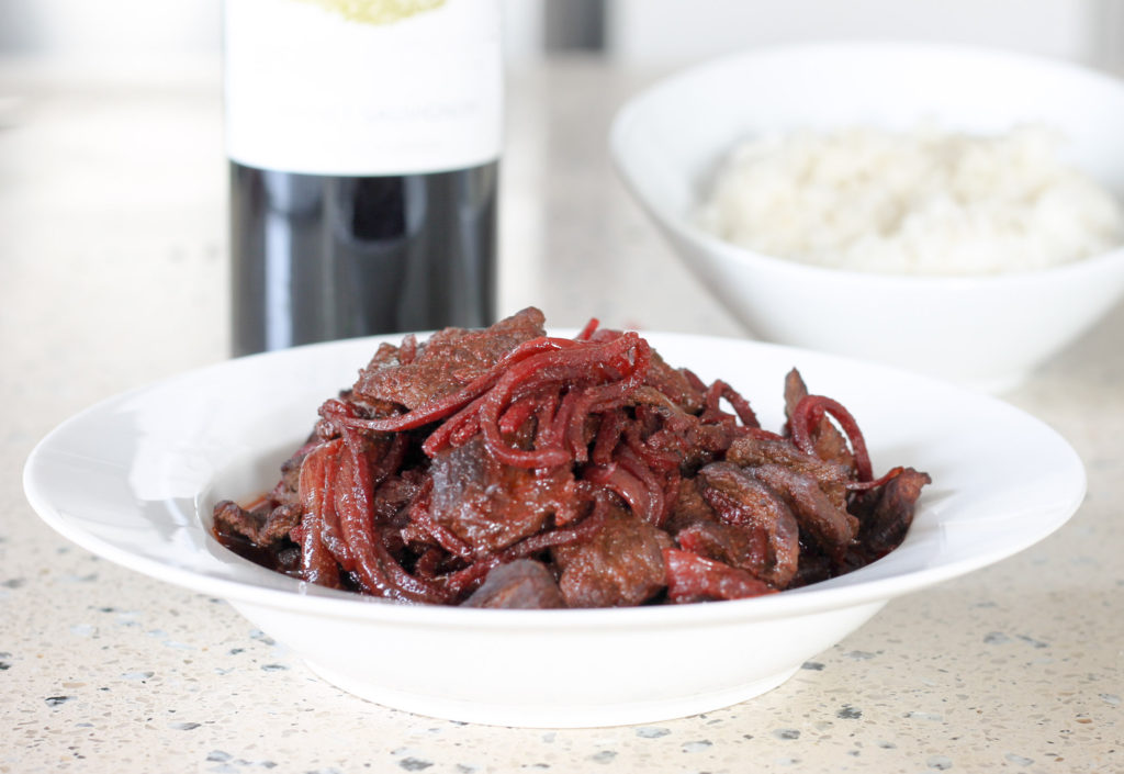 Beet Smothered Steak by Diverse Dinners