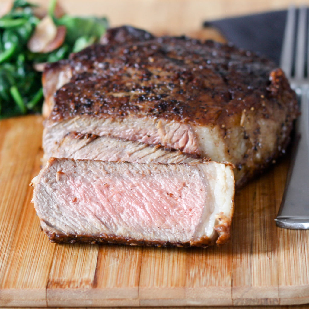 Butter Basted Pan Seared Ribeye by Diverse Dinners