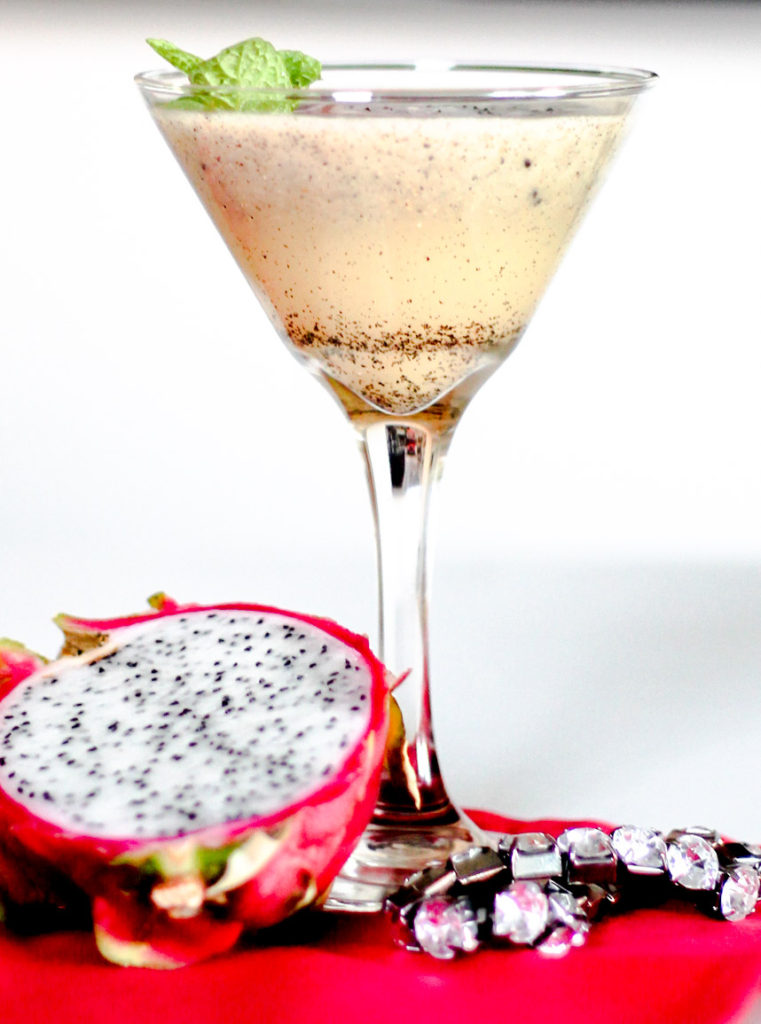 Dragon Fruit Bourbon Martini by Diverse Dinners