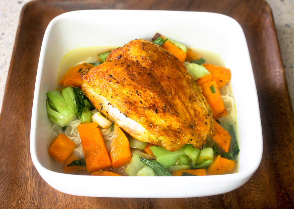 Crispy Baked Chicken Noodle Soup by Diverse Dinners