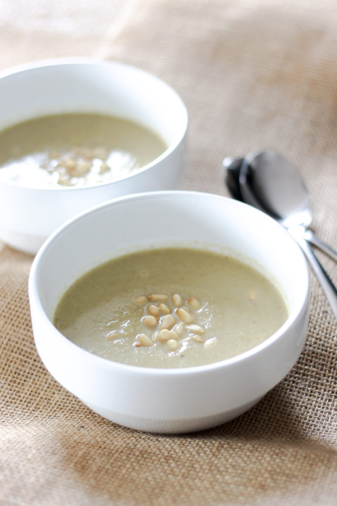 Roasted Cauliflower Blue Cheese Soup by Diverse Dinners