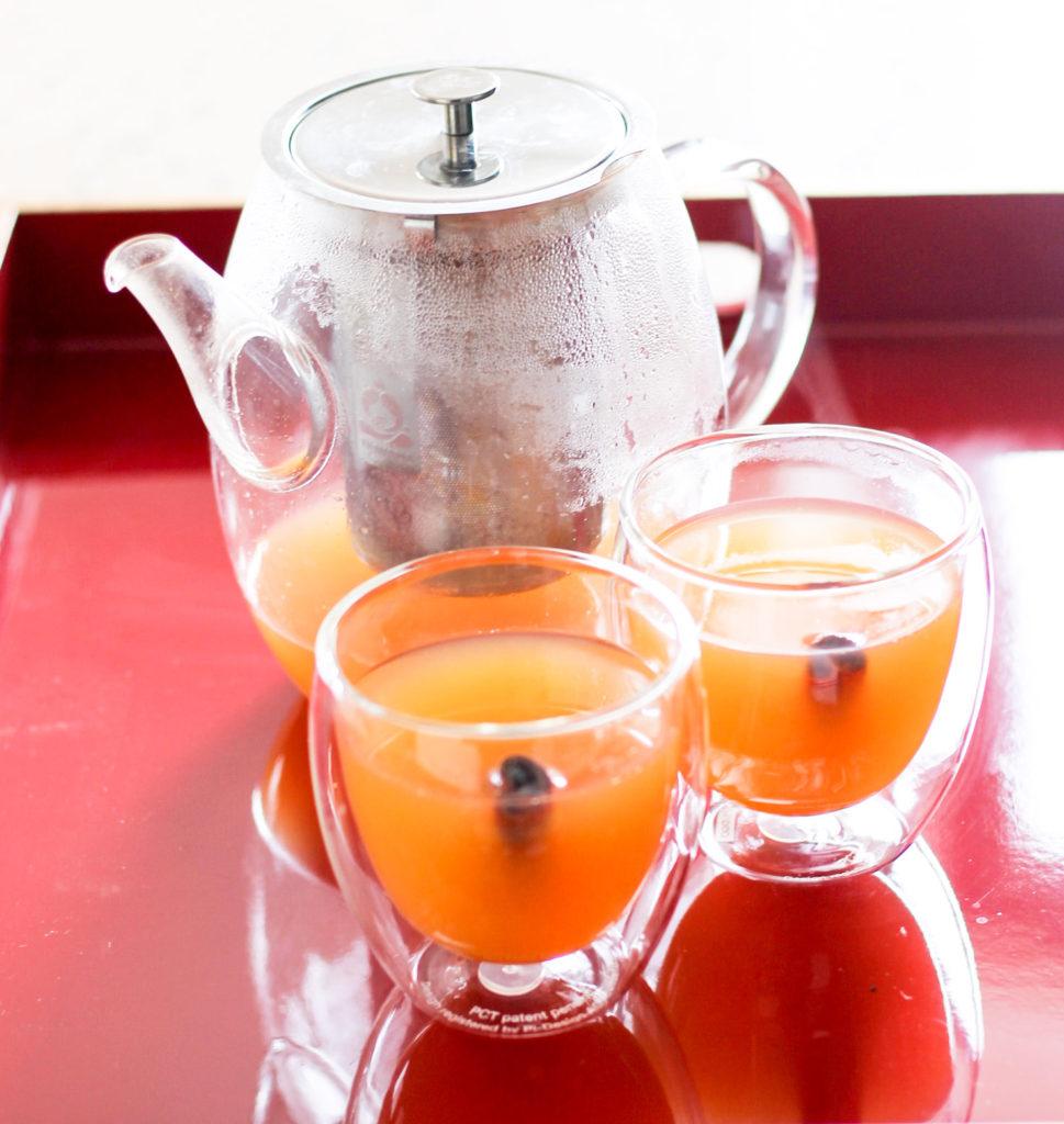 Spiced Grapefruit Tea y Diverse Dinners