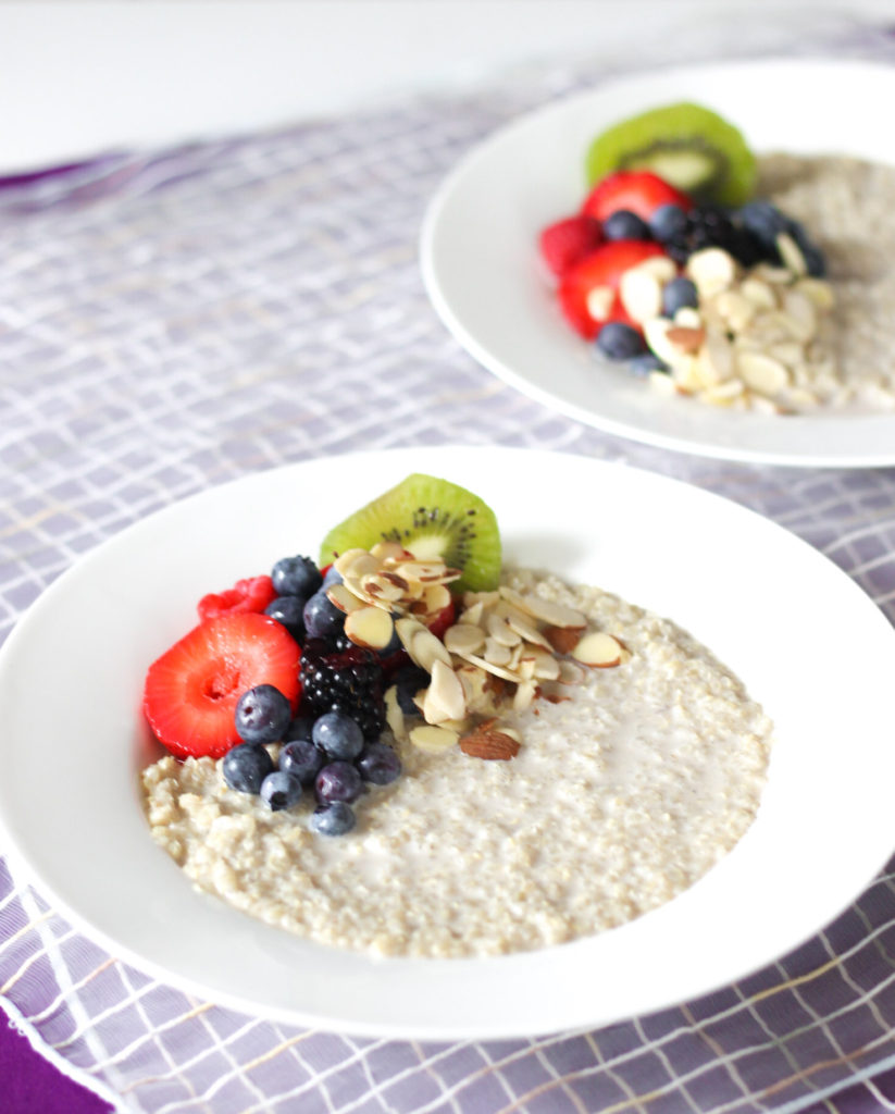 Fruit and Nut Quinoa Breakfast Bowl by Diverse Dinners
