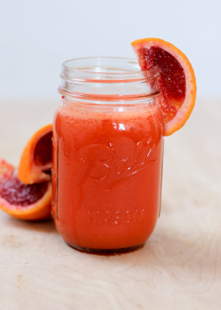 Blood Orange Carrot Turmeric Detox Juice by Diverse Dinners