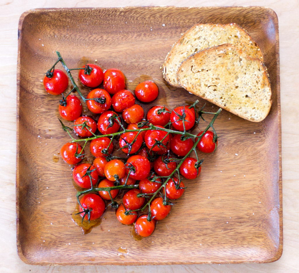 Blistered Balsamic Cherry Tomatoes by Diverse Dinners