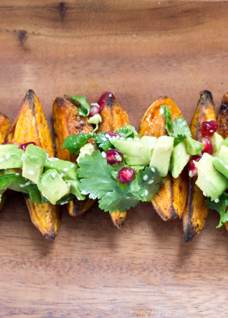 Baked Fingerling Sweet Potato Wedges by Diverse Dinners