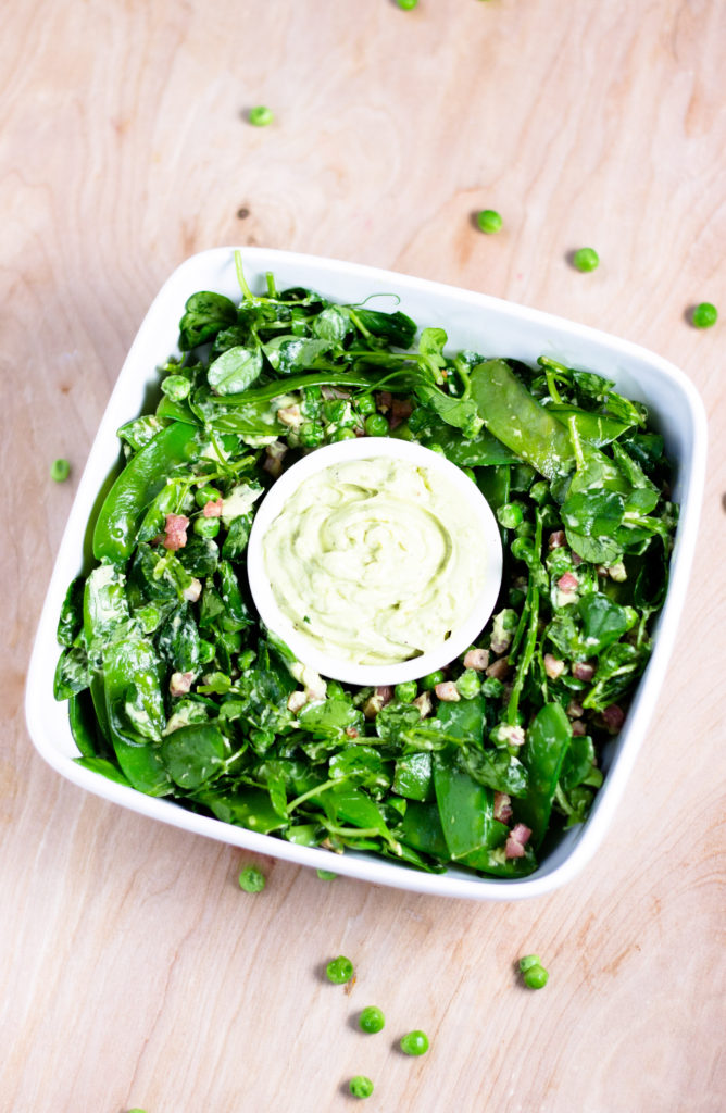 Peas and Pancetta Salad by Diverse Dinners