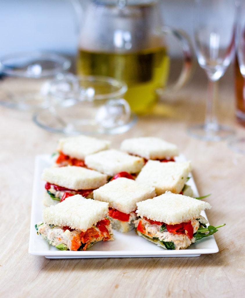 Tea Time Tuna Peppadew Sandwiches by Diverse Dinners