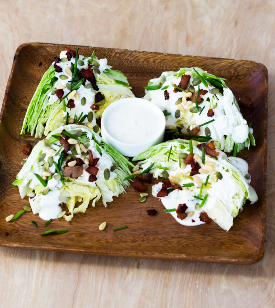 Lettuce Wedge Salad by Diverse Dinners