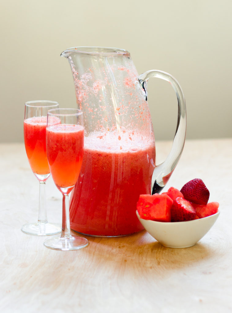 Sparkling Strawberry Watermelon Sangria by Diverse Dinners