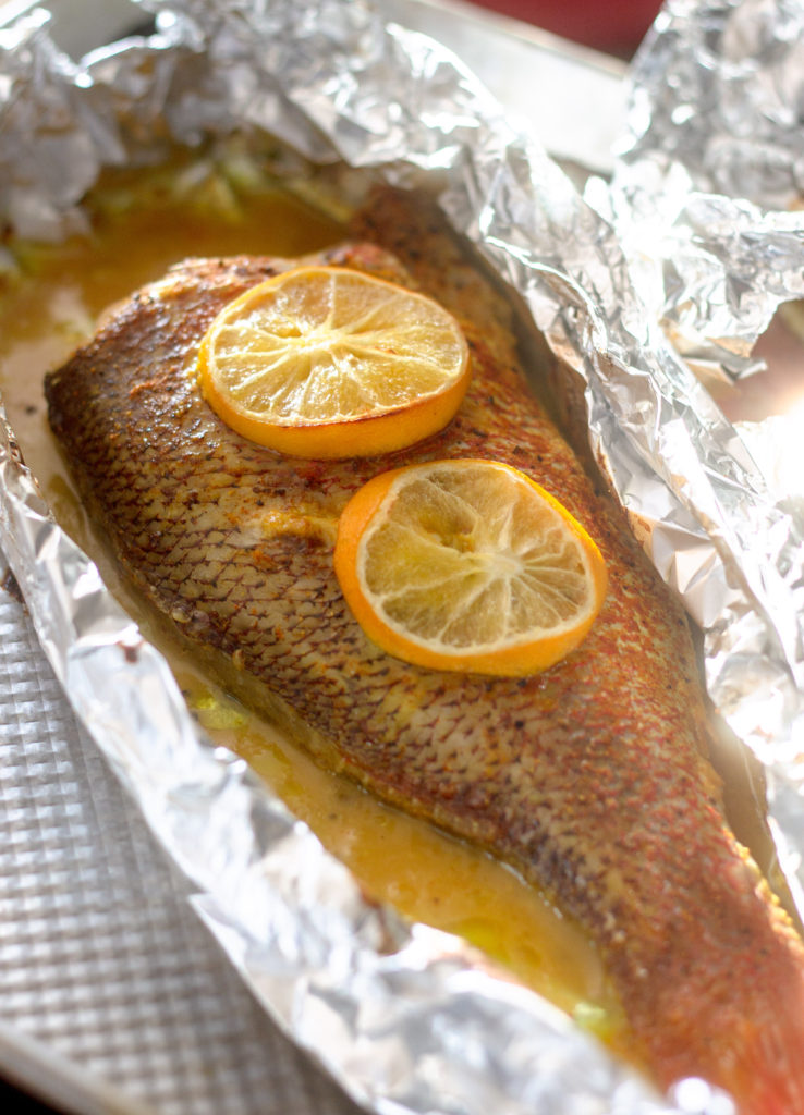 Lemon Garlic Baked Snapper by Diverse Dinners