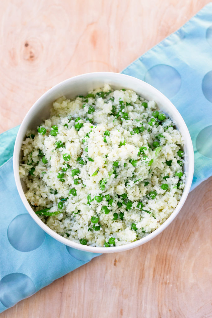 Cauliflower Rice and Peas by Diverse Dinners