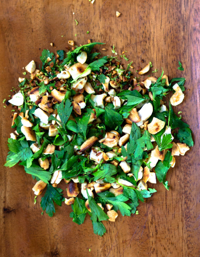 Cashew Parsley Gremolata by Diverse Dinners