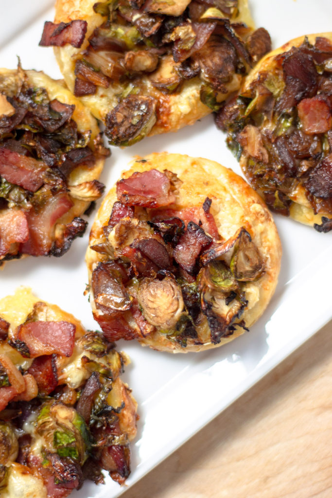 Caramelized Brussels Sprouts Pancetta Pizzette by Diverse Dinners