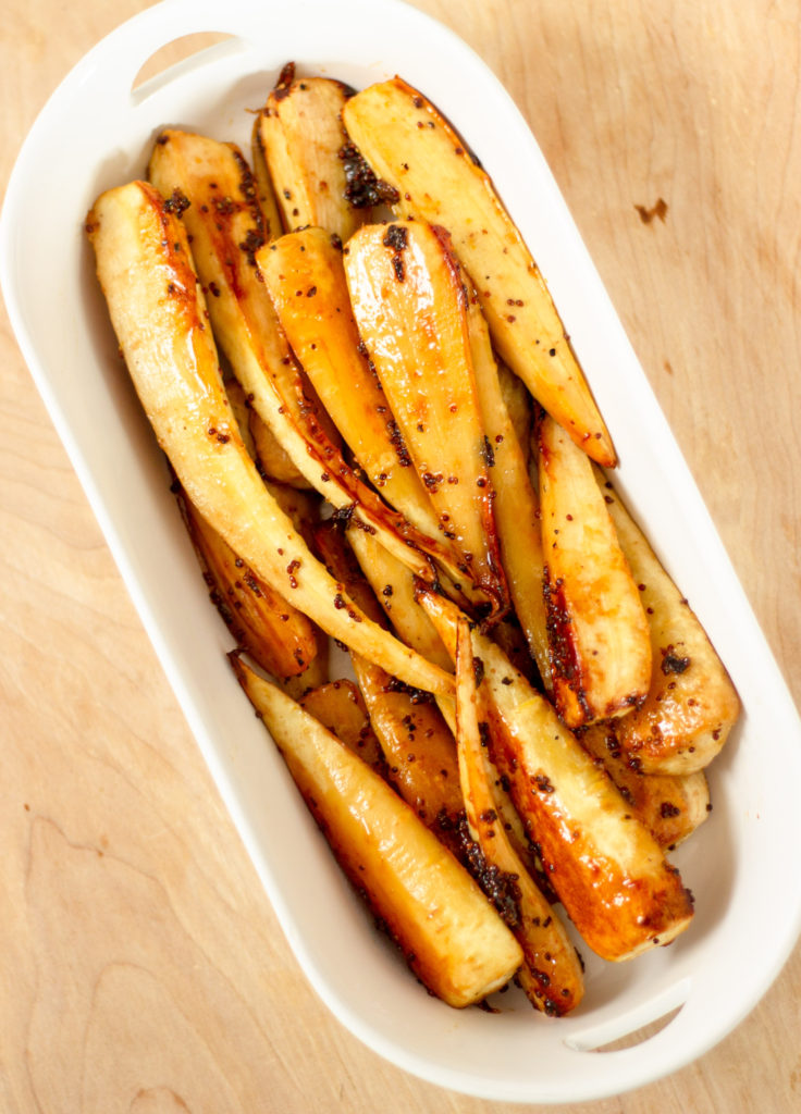 Honey Maple Mustard Parsnips by Diverse Dinners