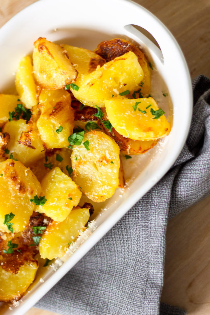 Garlic Parmesan Potatoes by Diverse Dinners