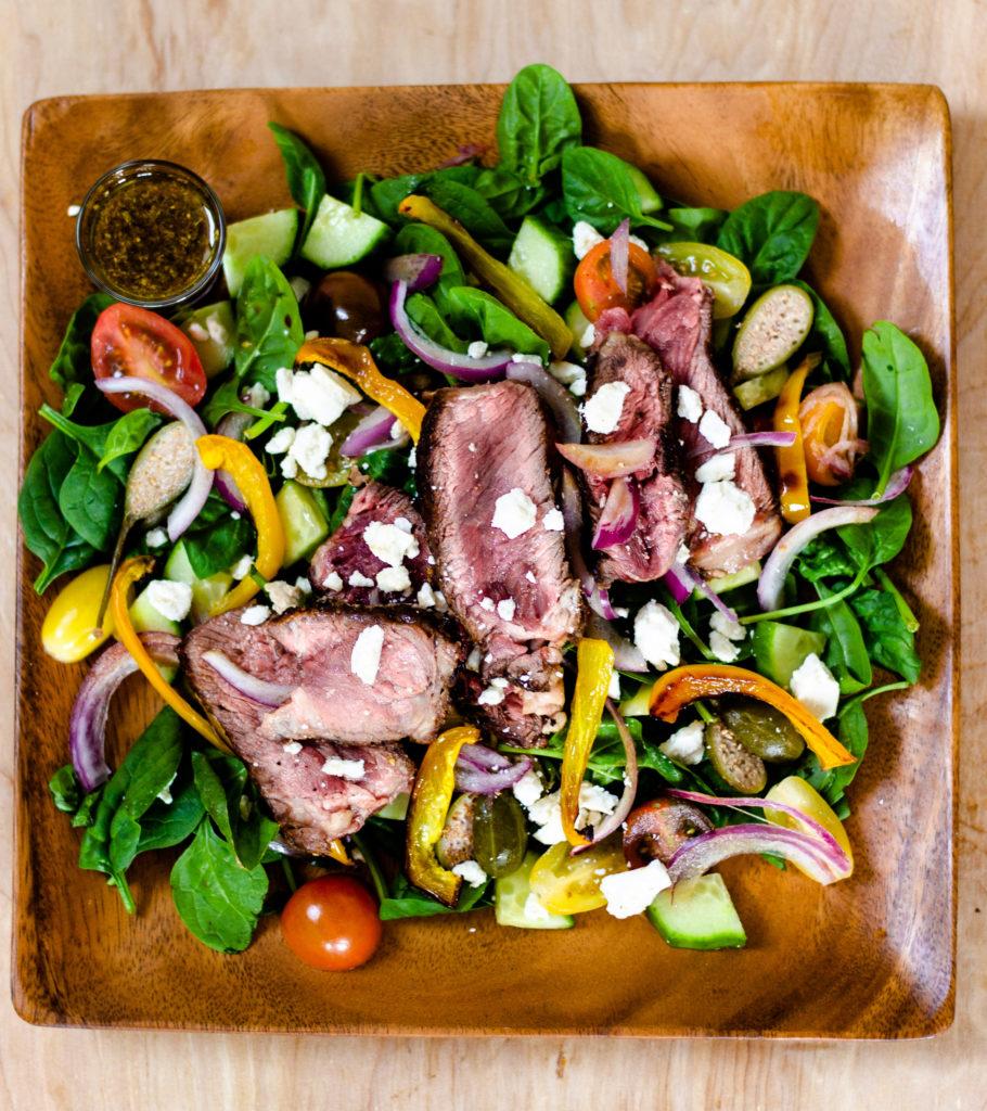Mediterranean Ribeye Salad by Diverse Dinners