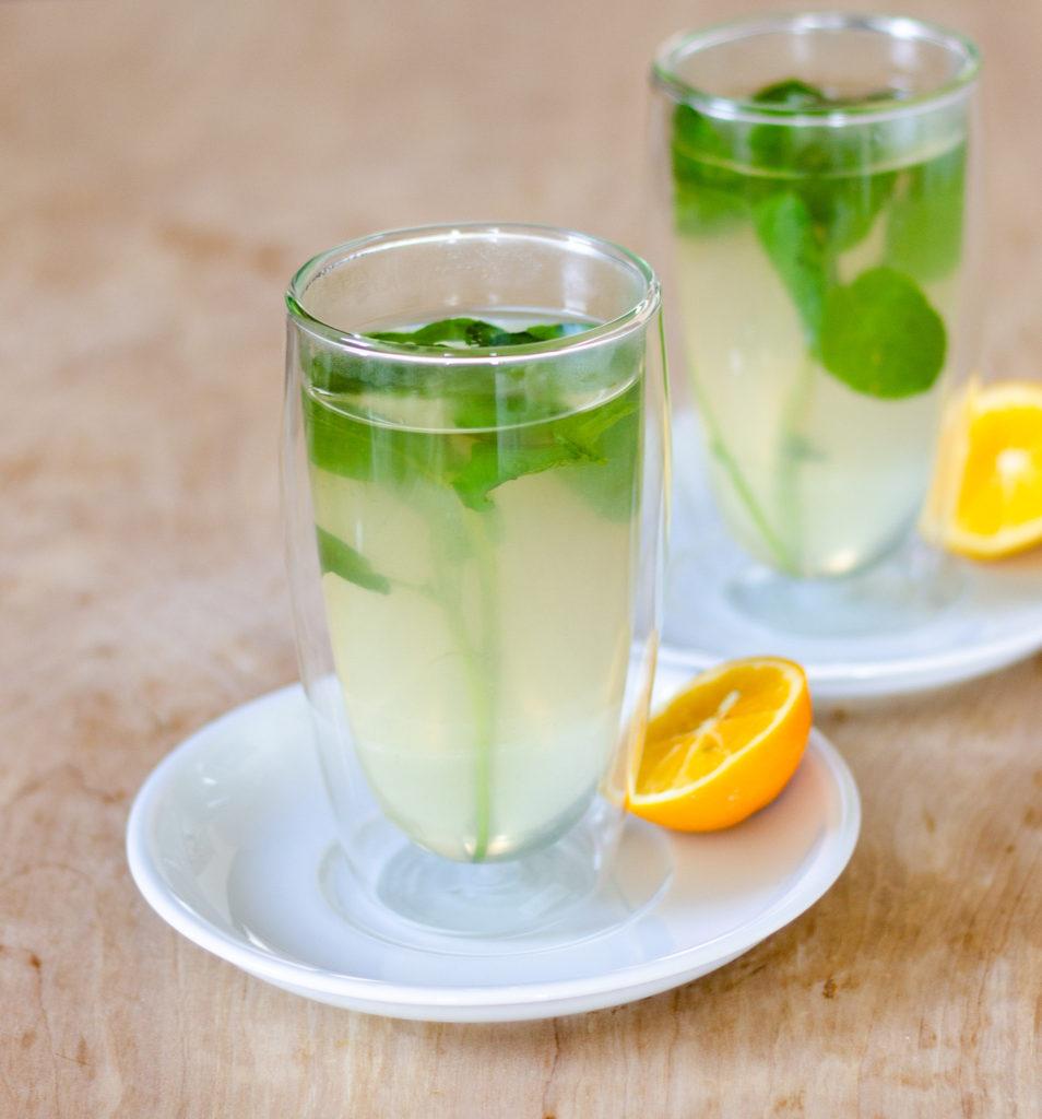 Lemon Mint Tea by Diverse Dinners