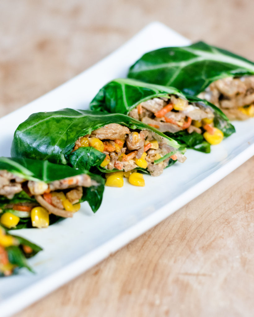 Ground Chicken Collard Greens Wrap by Diverse Dinners
