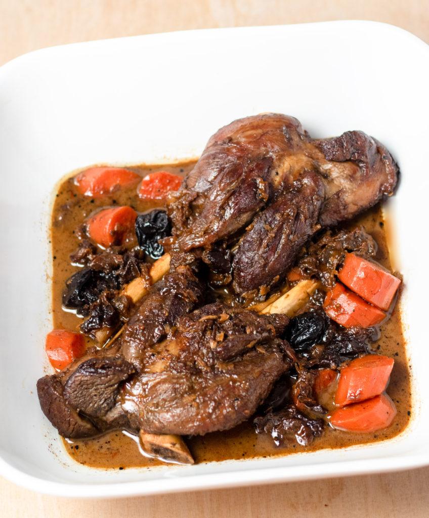 Prune Honey Lamb Shanks By Diverse Dinners