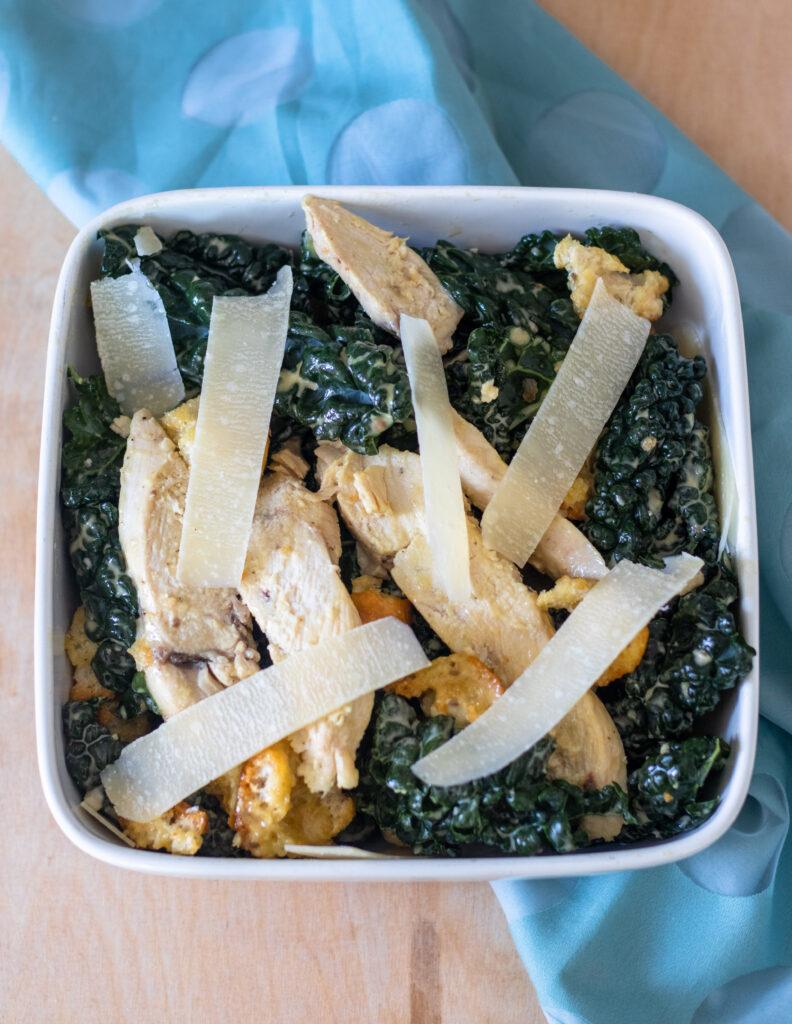 Kale Chicken Caesar Salad by Diverse Dinners