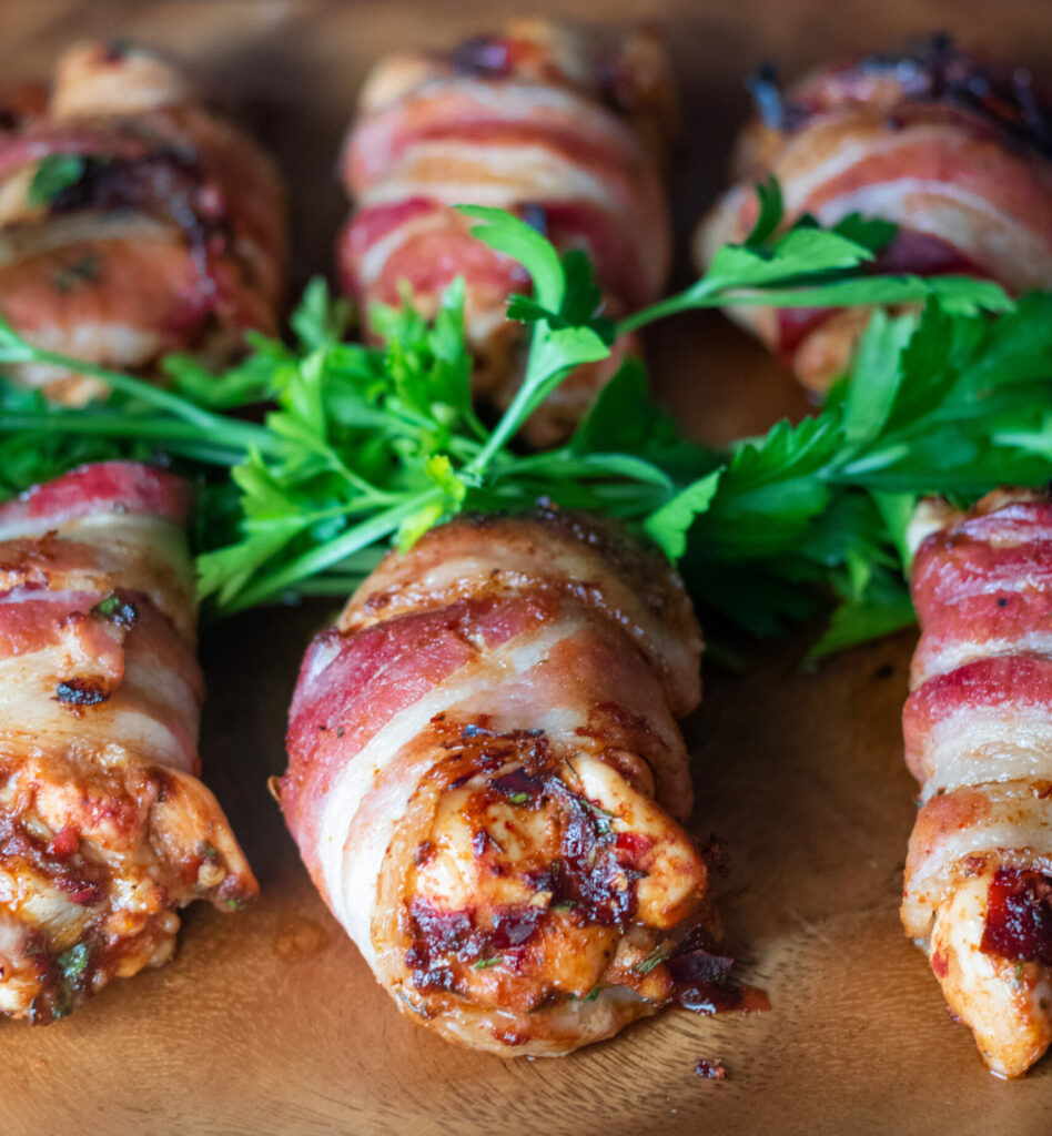 Smoky Bacon Wrapped Chicken by Diverse Dinners