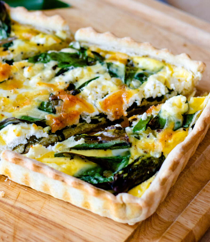 Simple Goat Cheese Quiche by Diverse Dinners