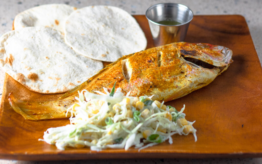 Whole Baked Snapper Tacos by Diverse Dinners
