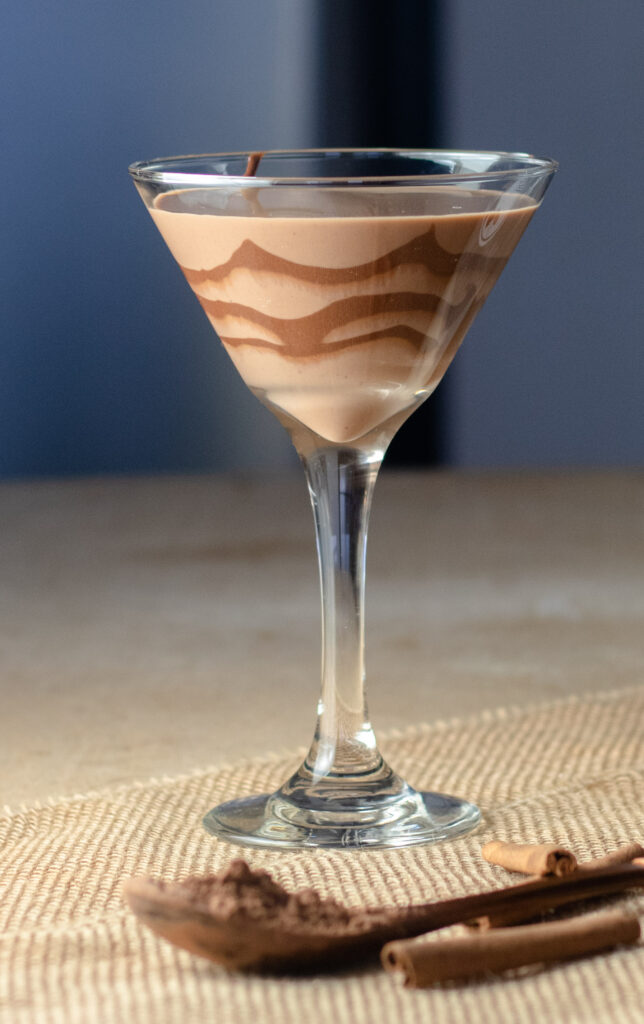 Chocolate Coquito Martini by Diverse Dinners