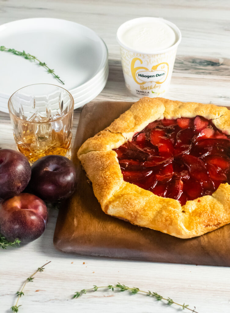 Bourbon Thyme Plum Galette by Diverse Dinners