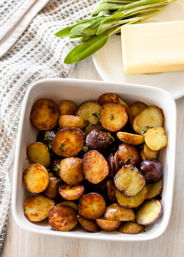 Butter Sage Potatoes by Diverse Dinners