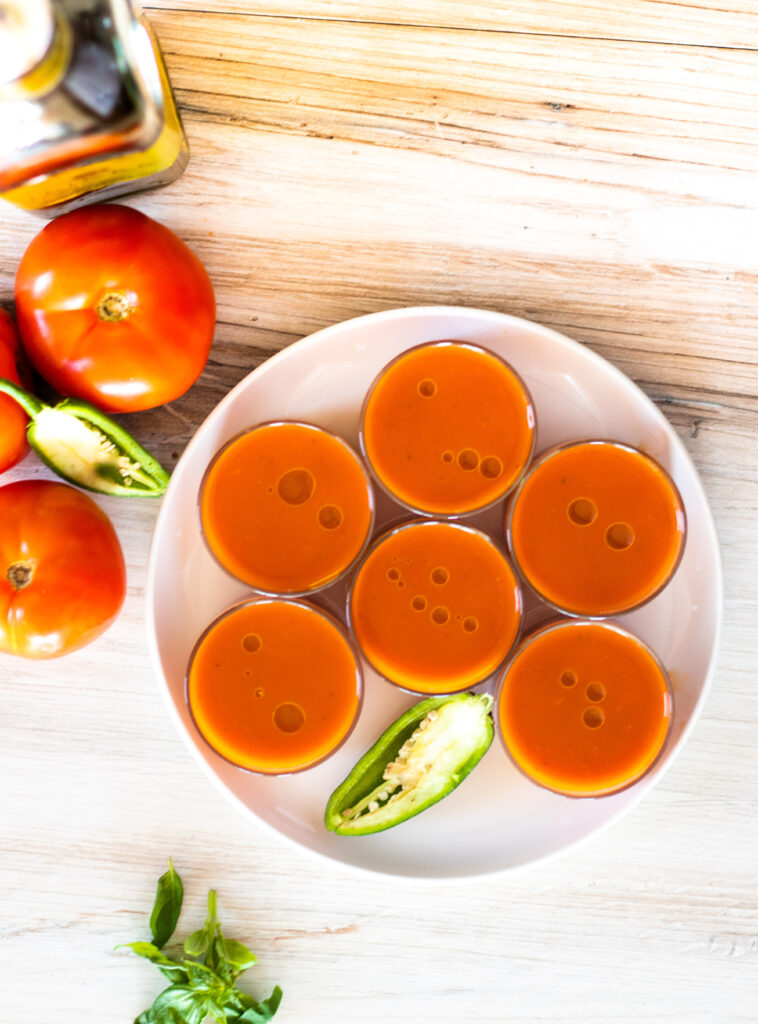 Chilled Spicy Tomato Soup by Diverse Dinners