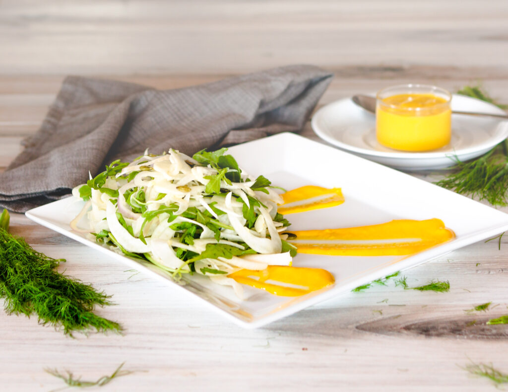 Fennel Arugula Salad by Diverse Dinners