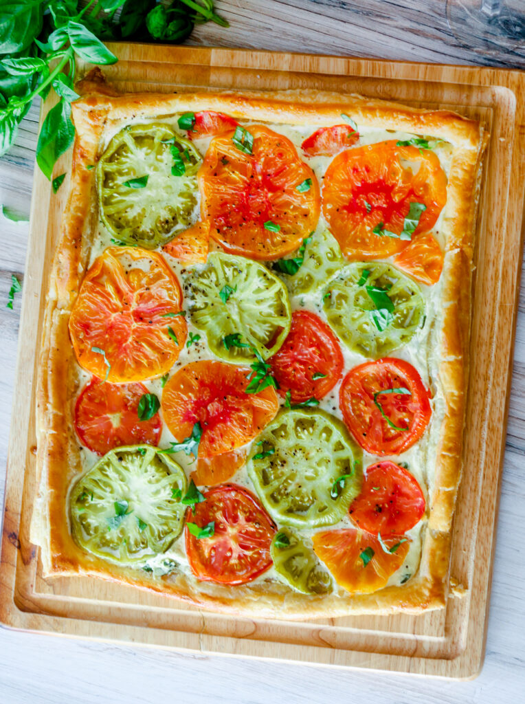 Heirloom Tomato Tart by Diverse Dinners