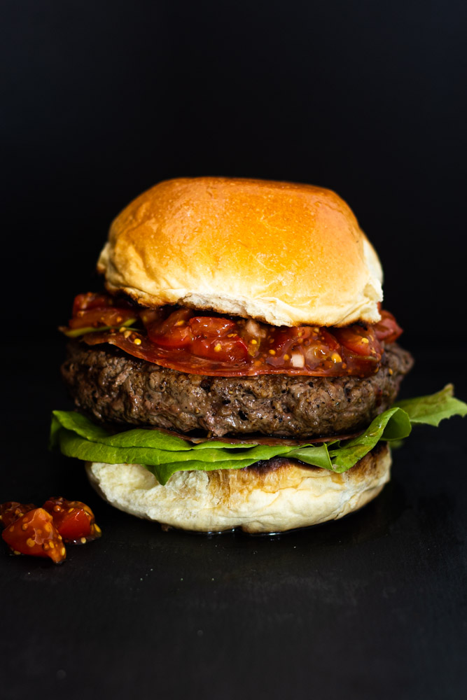 Hearty Burger with Soppressata by Diverse Dinners