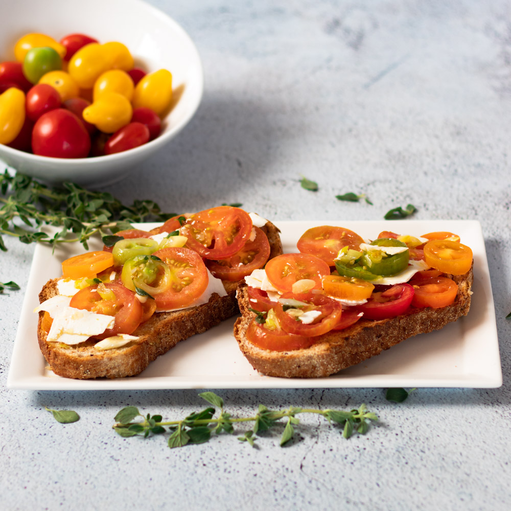 Tomato Toast by Diverse Dinners