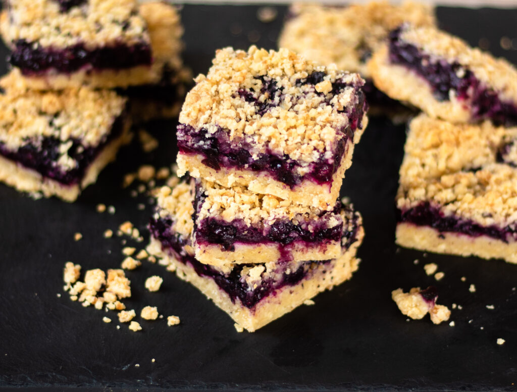 Blueberry Oatmeal Crumb Bars by Diverse Dinners