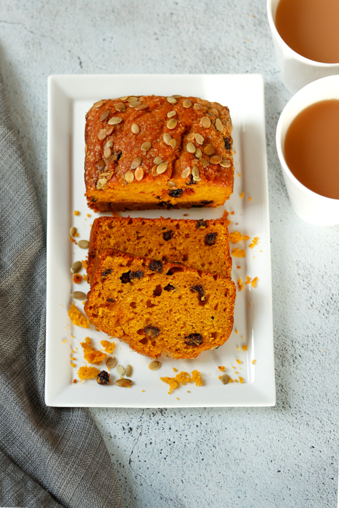 Easy No Mixer Pumpkin Bread by Diverse Dinners