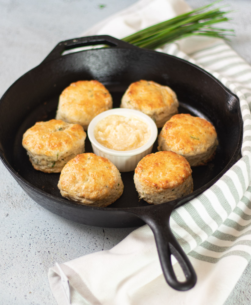 Cheddar Chive Buttermilk Biscuits by Diverse Dinners